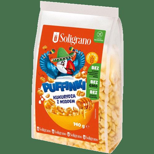 Puffinki kukurydza z miodem