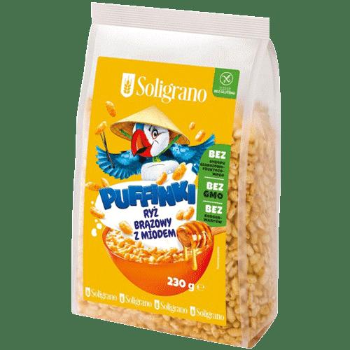 Puffinki ryż brązowy z miodem